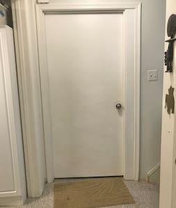 Wide entrance doorway