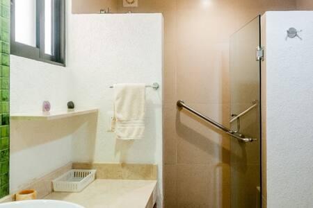 Fikseeritud käepidemed duši all