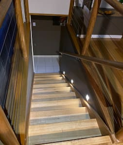 10 steps up to kitchen, dining, living, top veranda and bedroom