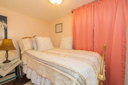 Twin bed , downstairs. Easy access.