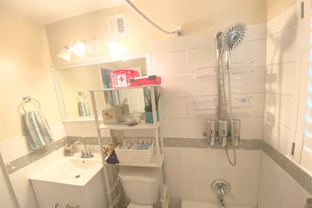 Dual/Extended shower-head for mobility.