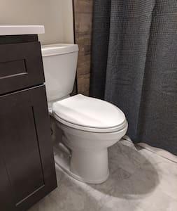 """Comfort Height"" toilet with top of seat 17.5"" from floor."