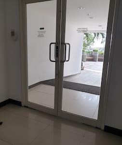 wide door to pool area
