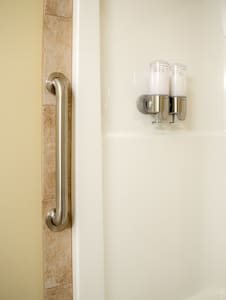Grab Bar to assist getting in and out of the bathtub/shower.