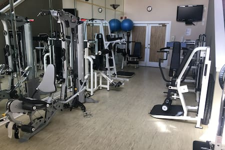 Full gym with cardio theatre