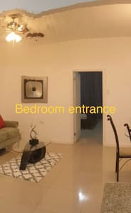 Easy access to bedroom from living/dining area