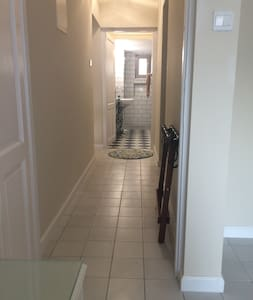 No steps or stairs to enter the bedroom and there is a flat path through the entry way.