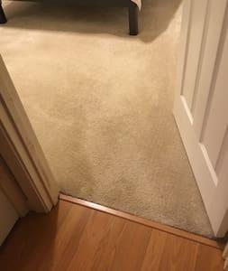 Flat pathway into bedroom