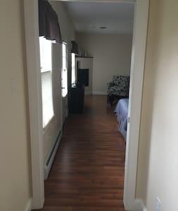 35 inch doorway to bedroom/sitting area