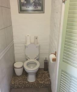 Space around toilet