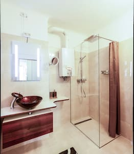 Extra space around shower