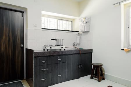 Fully equipped kitchen with Gas Burner and all types of utensils. Plus RO Purification unit.