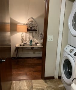 36 inch door to the laundry area in one of the bathrooms.