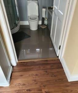 door to bathroom