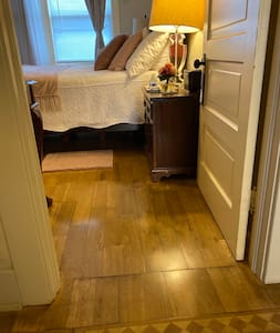 Wide entrance to bedroom #1 Bedroom # 2 entrance is the same width .  (36 inches )