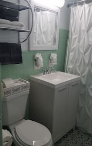 Toilet is chair height.