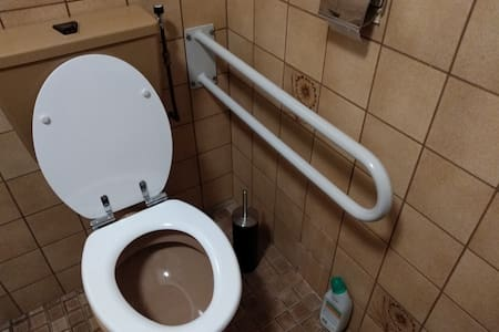 Fixed grab bars for toilet