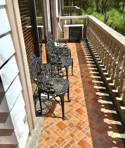 Veranda terrace by the living room.