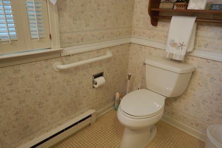 Grab bar next to Master Bathroom toilet