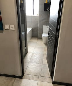Shower is step-free.