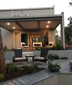 2 large patios, one covered