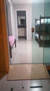 Entrada  da suite com  rampa