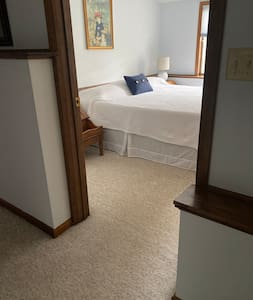 There are no steps or obstructions to access the bedroom.