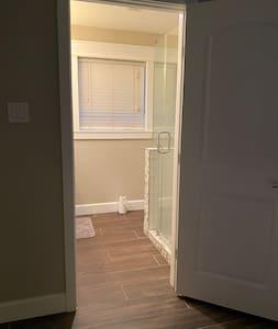 Entrance into master bathroom