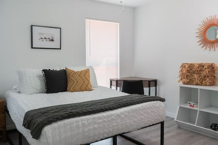 Very good amount of space in bedroom for moving around.