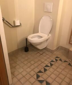 Barras de apoio fixas para o vaso sanitário