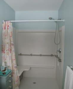 Barres d'appui pour douche