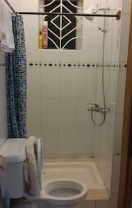 Espaço extra próximo ao chuveiro
