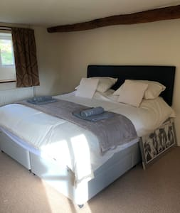 Downstairs bedroom, superking double or twin room.