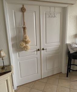 French doors leading to master bedroom