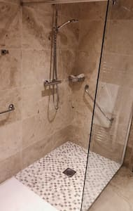 Extra large walk in shower