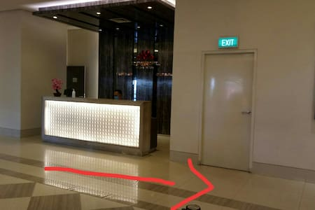 from the reception desk, head right to the lift room and the mail box room to put the access card and room key.  mail box no 12.26