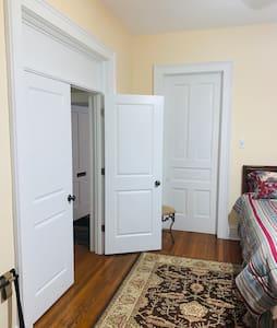 Double doors to bedroom. Both doors do open.