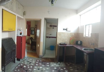 huge open bright kitchen with