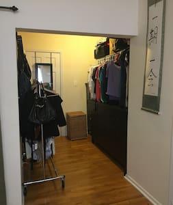 "Bathroom access is through the ""walk in closet"""