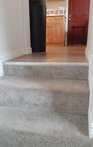 Steps from entry to kitchen