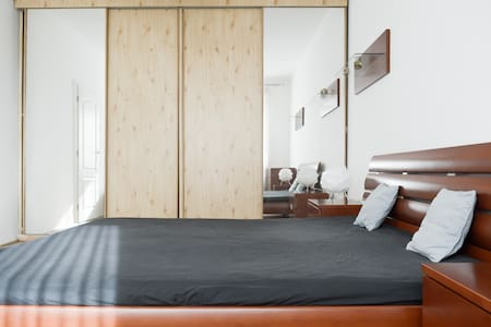 Bedroom with builtin cabinet