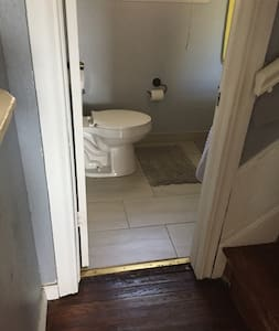Only bathroom is downstairs.