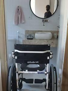 Entrada no banheiro da suíte