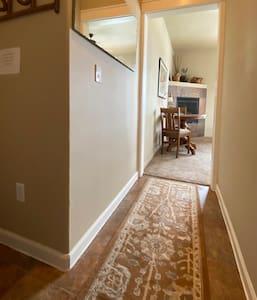 Entryway into bedroom area.
