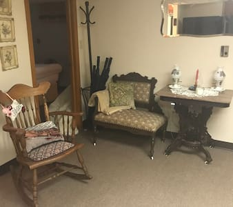The entrance to the bedroom