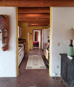 """There is no door to the kitchen. Entrance is over 40"""" wide."""