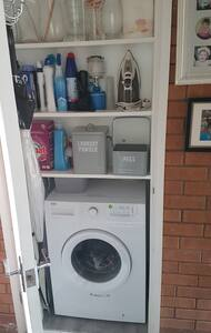 Washing machine for guests use.