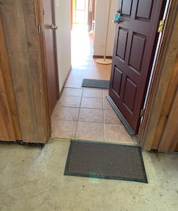 The doorway is the required width for wheelchair access.