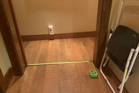 Access to bedroom and bathroom via wheelchair.