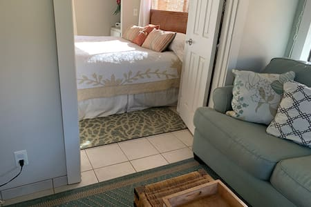 No steps from living room to bedroom or bath